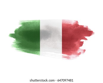 Italy flag grunge painted background