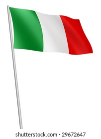 Italy flag. Isolated with clipping path