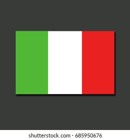 Italy flag isolated on grey background