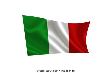 Italy flag.  ( A series of flags of the world ) Italy flag.