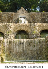Italy, Florence, 3/06/2019, the restored Rampe waterfalls, designed by Giuseppe Poggi in the late 1800s.