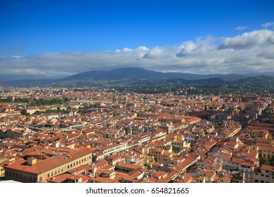 ITALY, FLORENCE - VIEW OF FLORENCE - MAY 2, 2017 - The View from the Santa Maria del Fiore dome.