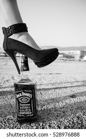 ITALY, Friuli Venezia Giulia ,Trieste  27 September 2014 ,Jack Daniel's, a brand of the best selling American whiskey in the world,