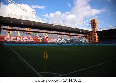 Italy, Genova, october 24 2020: Luigi Ferraris stadium atmosphere before kick-off about football match GENOA vs FC INTER, Serie A 2020/2021 day5, Ferraris stadium