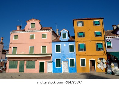 Italy July 2017 - Burano is an inhabited town of 2,426 inhabitants that rises on four islands in the northern Venice lagoon