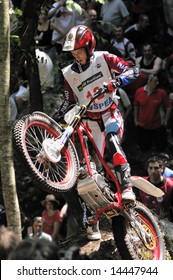 ITALY - JUNE 2008: FIM SPEA Trial World Championship 2008, Tarvisio (Italy) 29 June 2008 - Rider in action during the race
