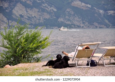Italy, Lago Garda at city of Malcesine
