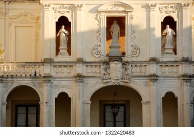 Italy/ Lecce – August 11, 2010: The Metropolitan Cathedral of Santa Maria Assunta is the main Catholic place of worship in Lecce. It is located in Piazza del Duomo and is in the Baroque style of Lecce