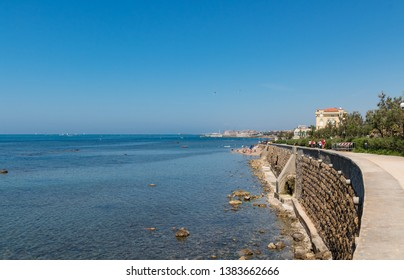 ITALY, LIVORNO - APRIL 22, 2018 - Beautiful Livorno urban sea. Tuscany