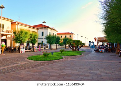 Italy, Livorno, Cecina, July 2018 landscape of the tourist resort of Marina di Cecina in the province of Livorno in Tuscany Italy