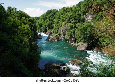 Italy, Lombardy, along the Adda river, The rapids