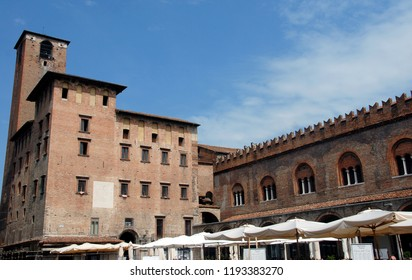 Italy, Lombardy / Mantua – July 23, 2012: Mantua is a Lombard city surrounded by 3 lakes. It is known for the Renaissance architecture of the buildings erected by the Gonzagas.