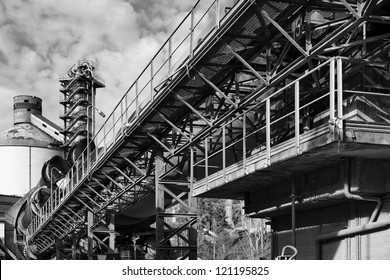Italy, Maddaloni (Naples), cement factory, blast furnace