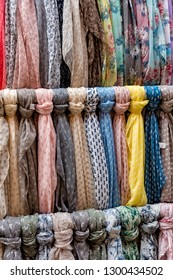 Italy Malcesine Colorful scarves