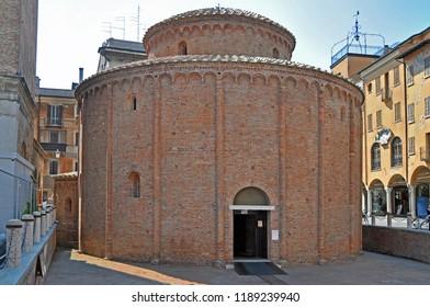 Italy, Mantua rotonda di san Lorenzo in piazza delle erbe.
