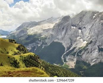 Italy, Marmolada Glacier