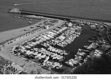 Italy, Mediterranean sea, Sperlonga (Rome); 10 June 2008, boats and luxury yachts in the port - EDITORIAL