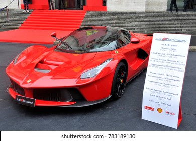 Italy - Milan 15,12,2017 - the Ferrari carmaker is listed on the stock exchange at the business center of Piazza Affari