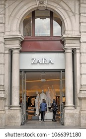 Italy - Milan April 11,2108 - Zara store and logo