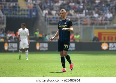 Italy, Milan, april 2017: Perisic Ivan during football match between FC INTER vs AC MILAN, Italy League Serie A, San Siro stadium, Milan april 15 2017