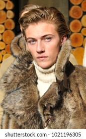 Italy -Milan february 9,2018- Lucky Blue Smith famous model
