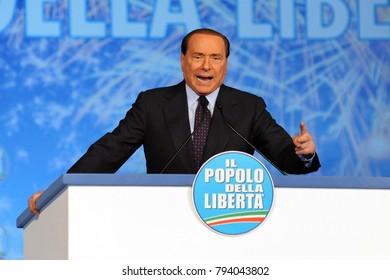 Italy - Milan january 15,2018 - Silvio Berlusconi politic