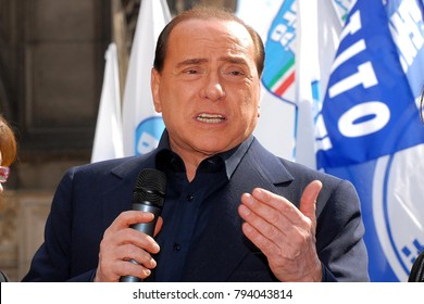 Italy - Milan january 15,2018 - Silvio Berlusconi politic