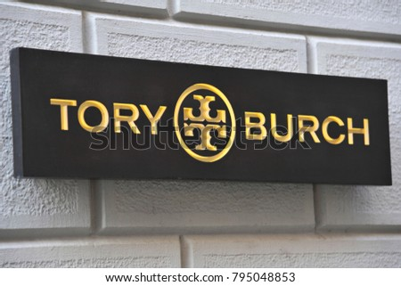 dda918c02d90 Italy Milan January 162018 Tory Burch Stock Photo (Edit Now ...