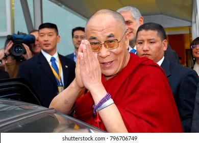 Italy - Milan january 18,2018 - Dalai Lama posed