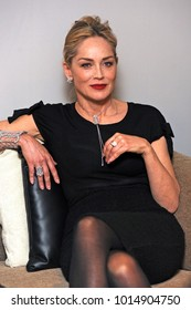 Italy - Milan  January 31,2018 - Sharon Stone actress posed