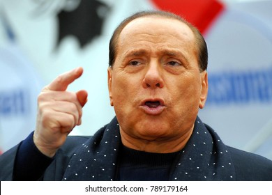 Italy - Milan - January 8,2018  - Silvio Berlusconi Posed