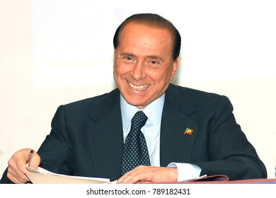 Italy - Milan january 8,2018 -  Silvio Berlusconi posed