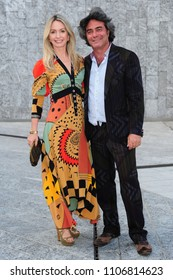 Italy - Milan june 6,2018 - Kean and Costanza Etro italian fashion designer posed