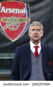 Italy, Milan, march 08 2018: Arsene Wenger Arsenal manager in the bench before kick-off about football match AC MILAN vs ARSENAL, Europa League 2018 round of 16 at San Siro stadium