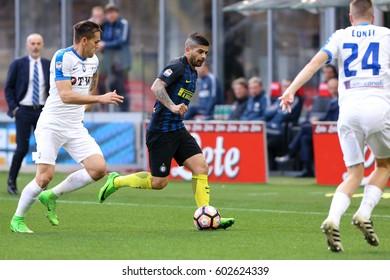 Italy, Milan, march 2017: Banega Ever in action during football match between FC INTER vs ATALANTA, Italy League Serie A Tim, San Siro stadium march 12 2017