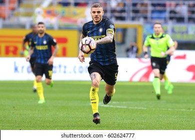 Italy, Milan, march 2017: Icardi Mauro in action during football match between FC INTER vs ATALANTA, Italy League Serie A Tim, San Siro stadium march 12 2017