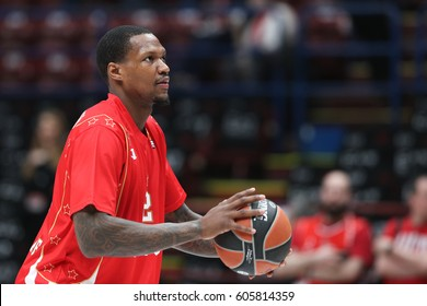 Italy, Milan, march 2017: Thompson Deon during basketball match EA7 Emporio Armani Milan vs Crvena Zvezda MTS Belgrade, Euroleague 2017, Mediolanum Forum Milan march 16 2017