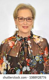 Italy - Milan may 12,2018 -  Meryl streep actress posed