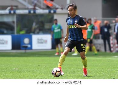 Italy, Milan, may 2017: Nagatomo Yuto during football match between FC INTER vs SASSUOLO, Italy League Serie A, San Siro stadium, Milan may 14 2017