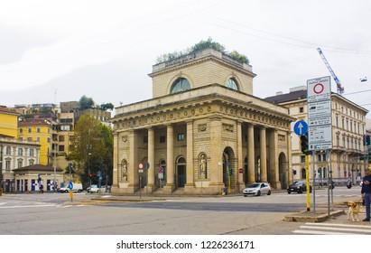 ITALY, MILAN - November 1, 2018: Porta Venezia - crossroad on Avenue Buenos Aires and street Bastioni di Porta Venezia in Milan