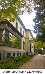 ITALY, MILAN - November 1, 2018: Villa Necchi Campiglio - House Museum (Casa Milanesi) in Porta Venezia district in Milan