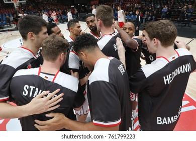Italy, Milan, november 17 2017: Team Brose Bamberg during basketball match Ax Armani Exchange Olimpia Milan vs Brose Bamberg, Euroleague 2018.