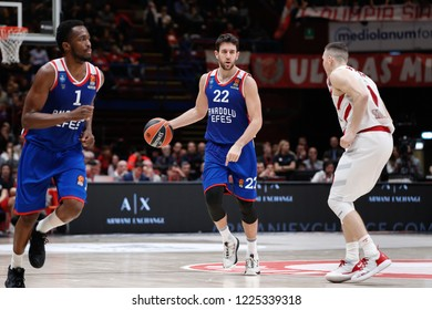 Italy, Milan, november 2 2018: Micic Vasilije takes ball in frontcourt in the fourth quarter during basketball match A|X ARMANI MILAN vs ANADOLU EFES ISTANBUL, EuroLeague 2019, Mediolanum Forum