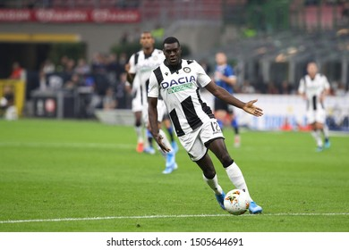 Italy, Milan, september 14 2019: Ken Sema, Udinese midfielder, dribbles in backcourt in the first half during football match FC INTER vs UDINESE, Serie A 2019/2020 day3, San Siro stadium
