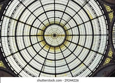 Italy, Milan The Vittorio Emanuele gallery cupola.
