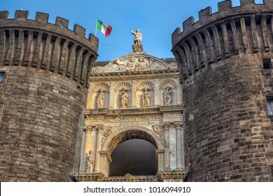 Italy, Naples, 02,01,2018 Castelo Nuovo, Naples, Italy