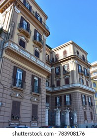 Italy, Naples, typical historic building of the last century.
