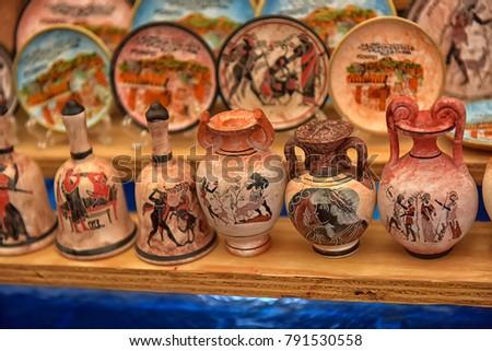 Italy Pompeii 02012018 Antique Vases Souvenirs Stock Photo Edit Now