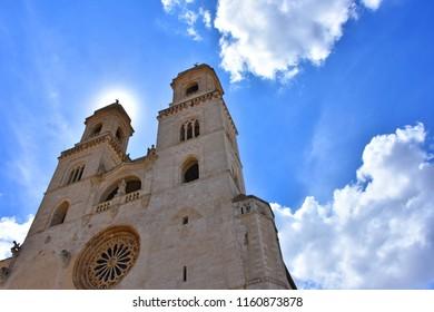 Italy, Puglia region, Altamura, 24 June 2018, Cathedral of Santa Maria Assunta, facades and elevations.