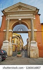 Italy Ravenna, old medieval city door Sisi, built in 16 century.